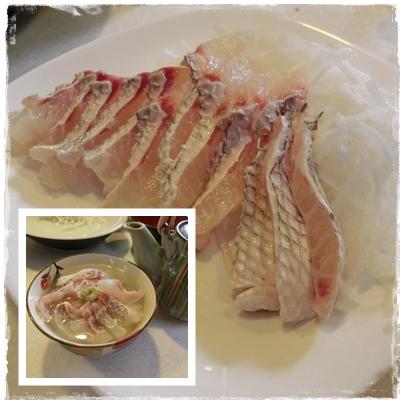 260721鯛のお刺身と鯛茶漬け