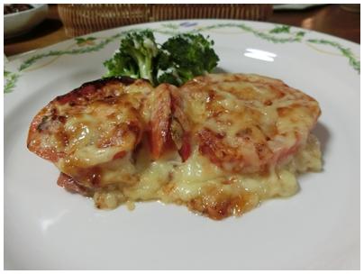 ⑤トマトとチーズ