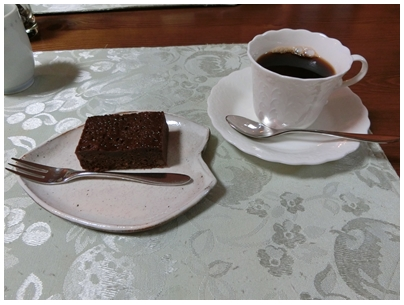 ⑦珈琲とケーキ