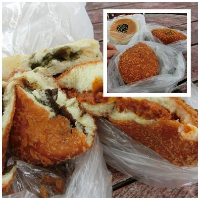 諏訪湖5(おやきパンとカレーパン)