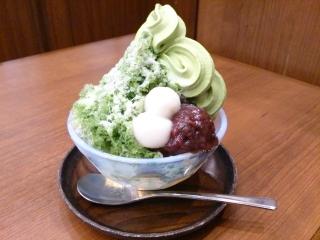 カフェ丸の内会 宇治抹茶かき氷¥780
