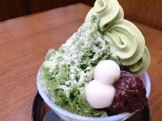 カフェ丸の内会 宇治抹茶かき氷¥780a