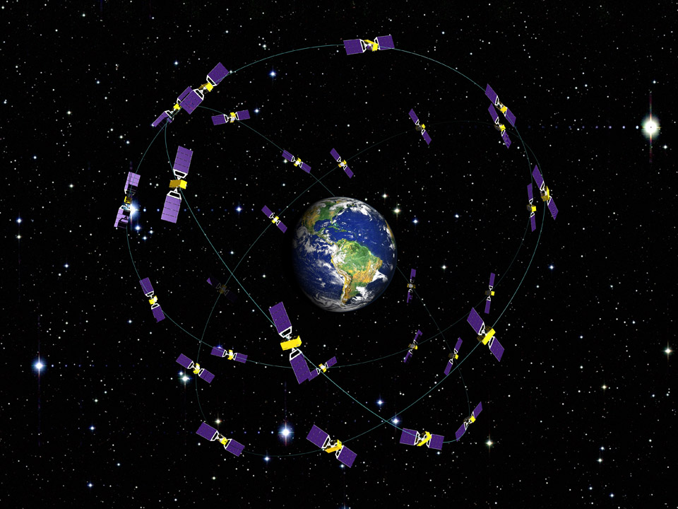 Galileo Sat Constellation in Orbit