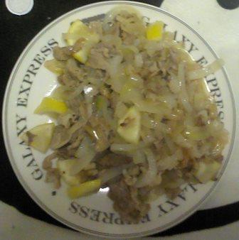 塩レモン肉野菜炒め