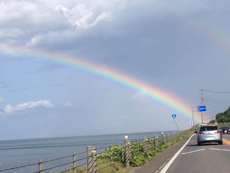 国道5線にて 虹