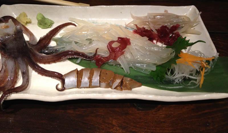 函館 イカの生き造り