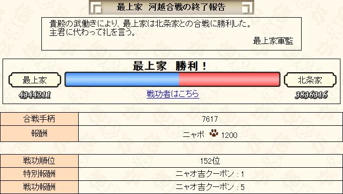 7月上合戦結果