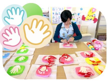 造形・紙粘土手形