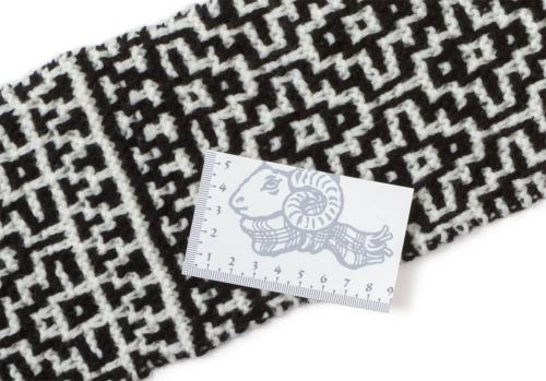 モザイク編みマフラー部分