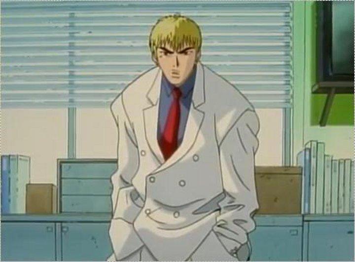 2代目【GTO】第2部第1話、アニメでスーツ姿の鬼塚