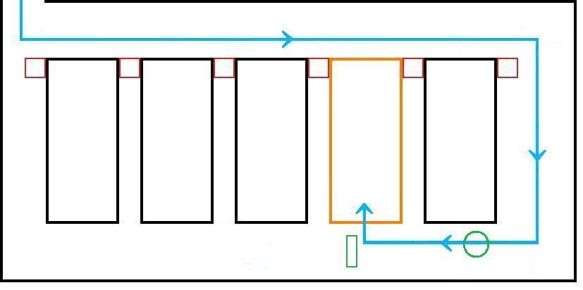 イオン幕張新都心でGモール車椅子専用駐車場の入り方、進行方向1平面見取り図