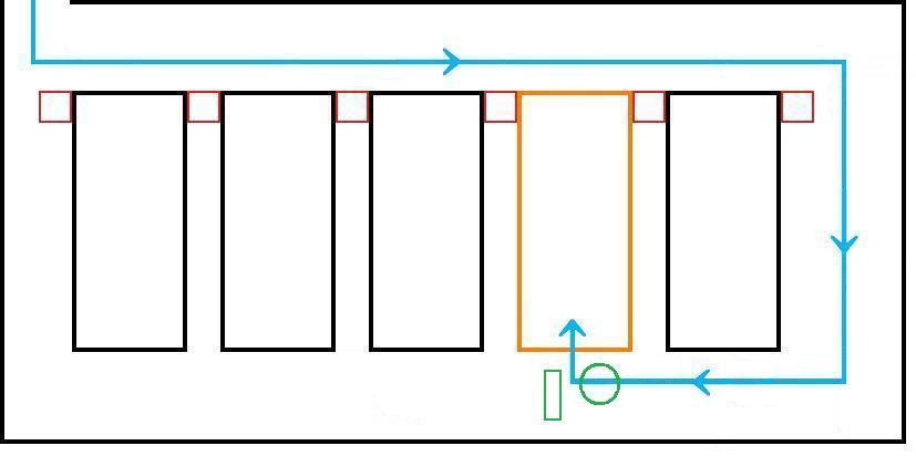 イオン幕張新都心でGモール車椅子専用駐車場の入り方、進行方向2平面見取り図