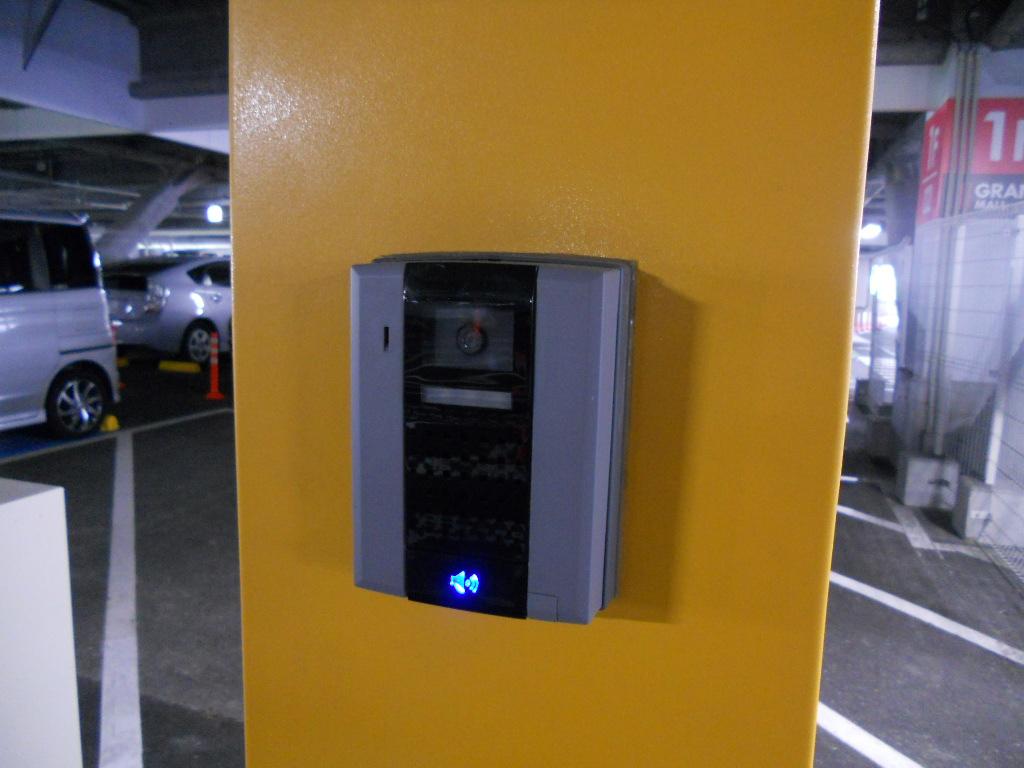 イオン幕張新都心でGモール車椅子専用駐車場の入り方、専用スペース(登録用)入り口インターホン