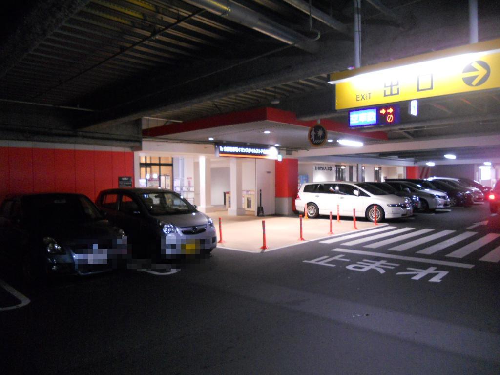 イオン幕張新都心でGモール車椅子専用駐車場の入り方、店内入り口の看板
