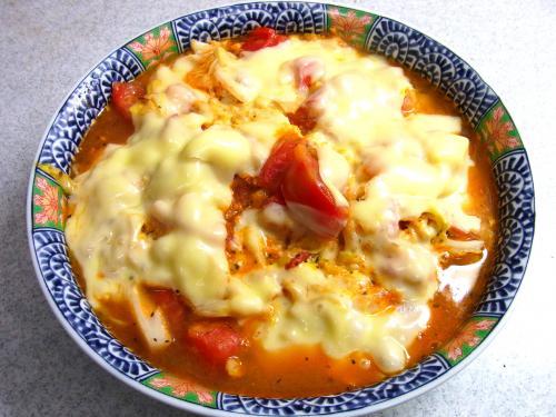 140531-221キャベツとトマトのチーズ焼(S)