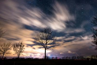 真冬の夜空