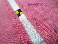 ピンク 韓国伝統模様 小窓コースター