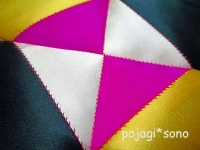 韓国伝統模様 サソン 三角繋ぎ