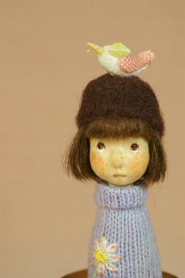 春をよぶとり・うすむらさきのセーター
