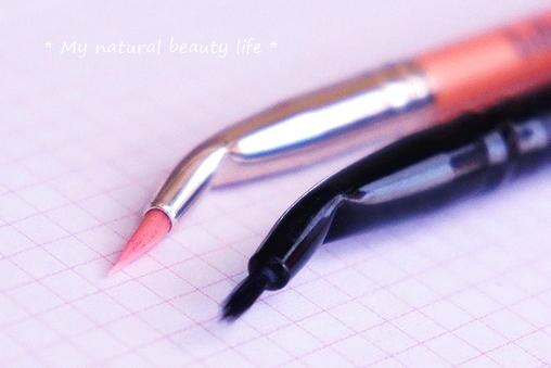 Bdellium Tools, Pink Bambu Series, Eyes 708, Bent Eyeliner Brush