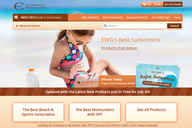 EWG's Sunscreen