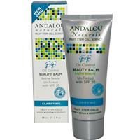 Andalou Naturals, BB Oil Control Beauty Balm, Un-Tinted with SPF 30