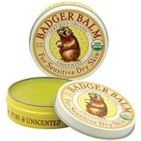 Badger Company, Badger Balm, For Sensitive Dry Skin, Unscented,
