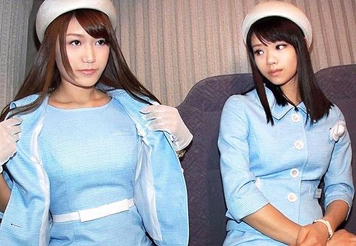 新宿で働くデパガ三人組を休憩中にナンパして制服のままハメ撮り!