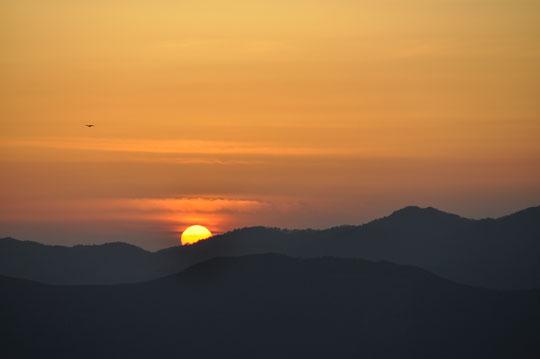 513四国カルストで日没