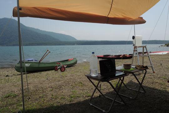 015湖畔でブログ