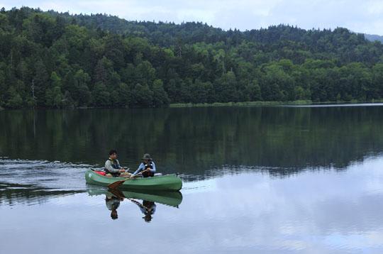 219チミケップ湖でカヌー