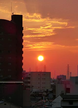 大阪の夕陽