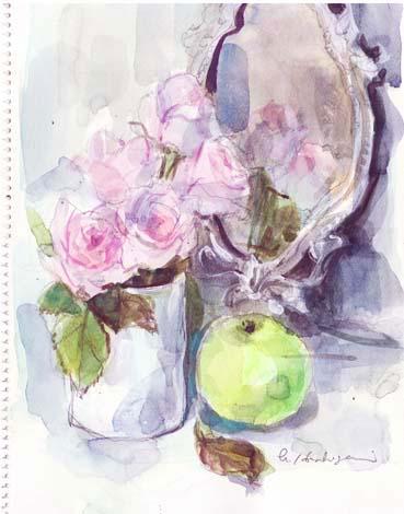20140831001 鏡のバラ