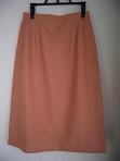 サーモンピンクウールスカート