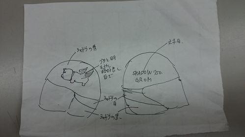 ヘルメットペイント詳細指示書 笑