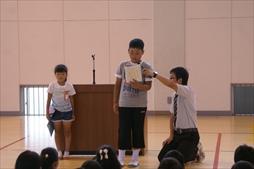 児童代表の話