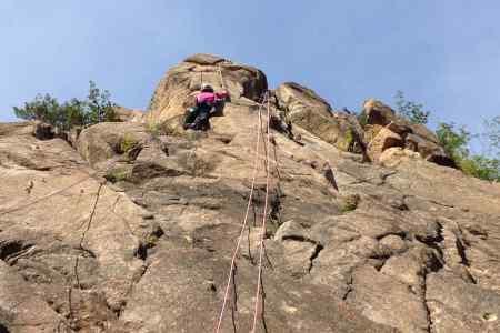 荒地山 キャッスルウォール登攀のKさん