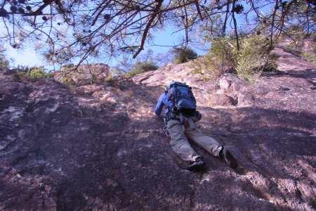 荒地山 初めての場所 慎重登攀のO