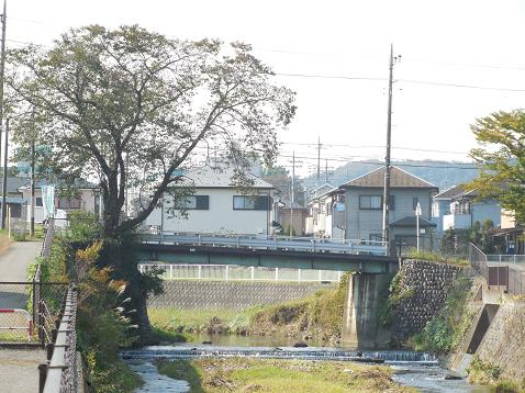霞川の西三ツ木橋@入間市A