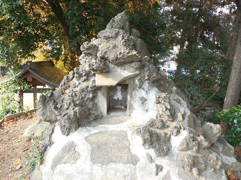 氷川神社の富士塚「雀ノ森富士」@川越市O