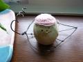 ナンフェア タティングレースの帽子を被った たまごちゃん