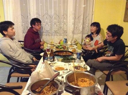 日本人会食となりました