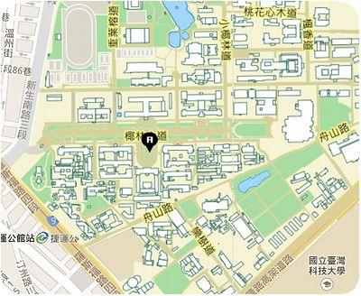 台湾大学地図