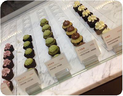 Les Bebes Cupcakeryショーケース