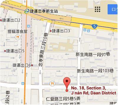 四知堂地図