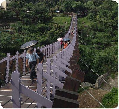 白石吊橋橋脇