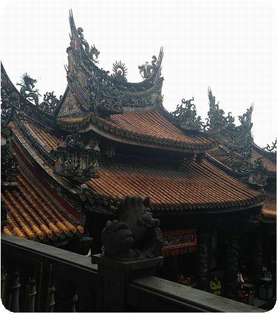 三峡祖師廟二階屋根