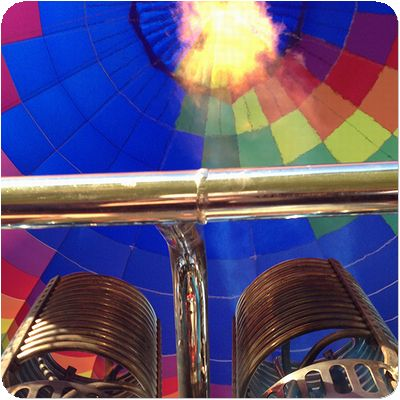 熱気球気球中