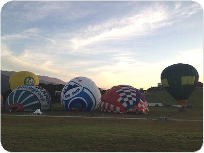 熱気球準備
