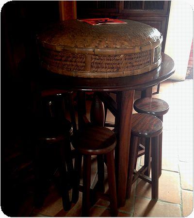 林安泰古厝家テーブル